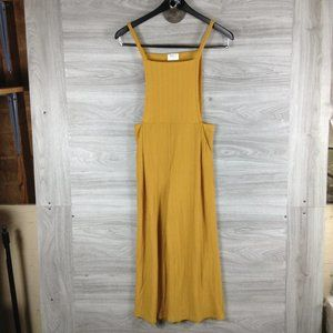 Sienna Sky Mustard Sleeveless Wide Leg Jumpsuit